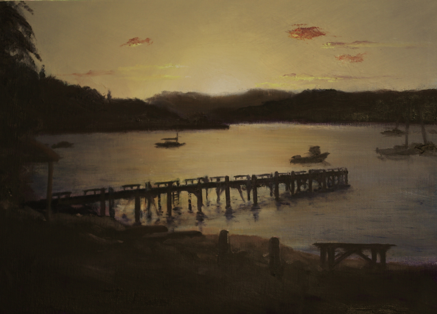 Sundown at Waikawa Bay, Picton, New Zealand