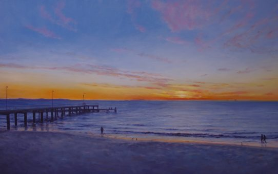 Coogee sunset oil painting