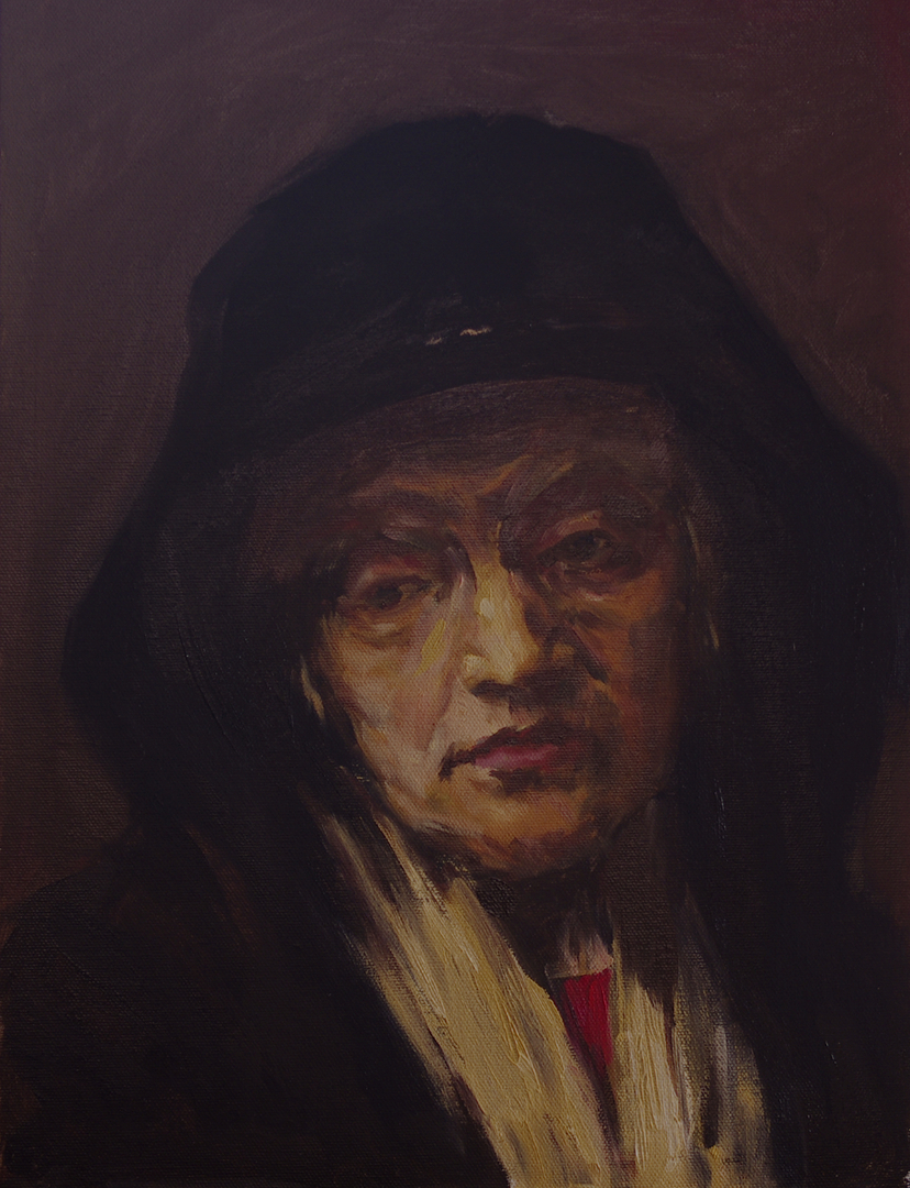 Reproduction of Rembrandt's Portrait of an Old Woman