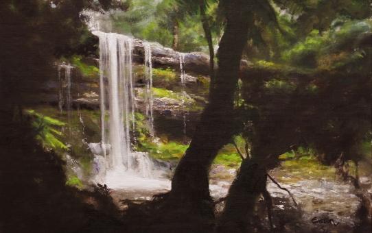 waterfall, russell falls, tasmania