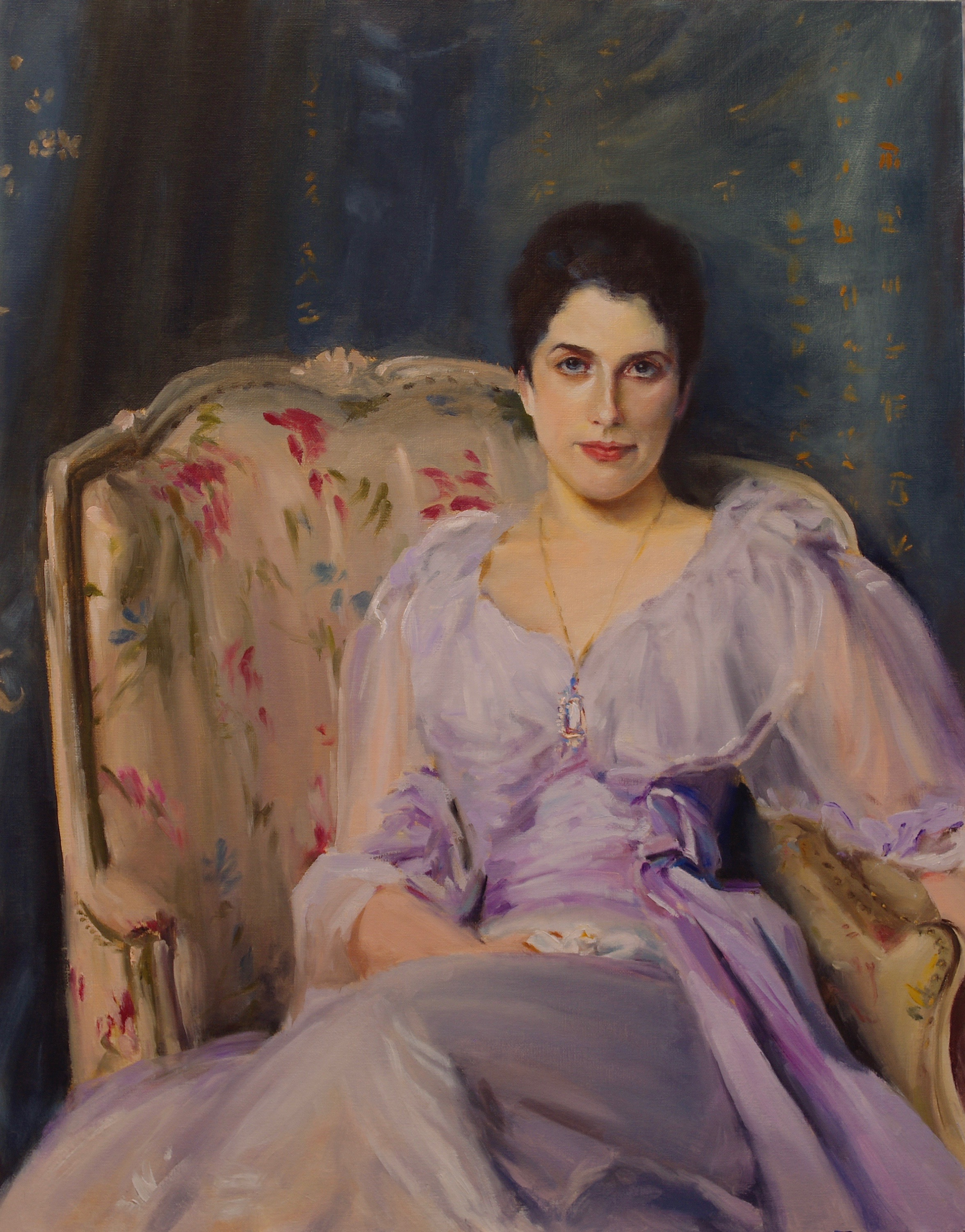 Reproduction of John Singer Sargent's Lady Agnew