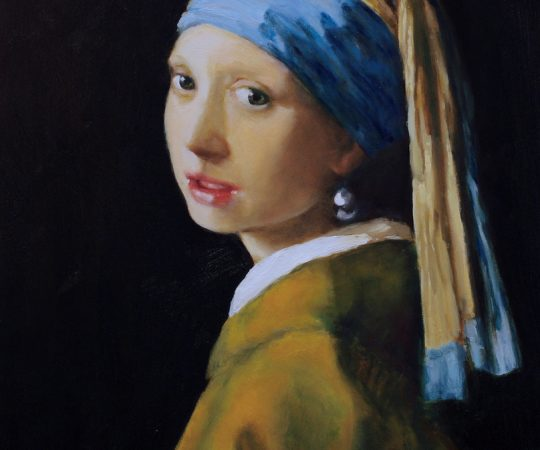 Reproduction of Vermeer's Girl With a Pearl Earring